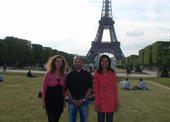 Czech delegation in front of Eiffel tower